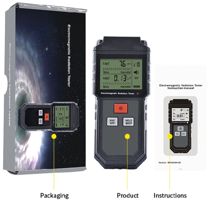 LCD Electronic Electromagnetic Radiation Detector