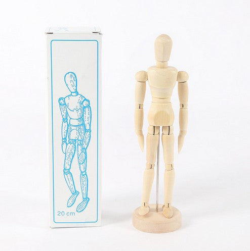 1pcs/set 8inch Model Wooden Man