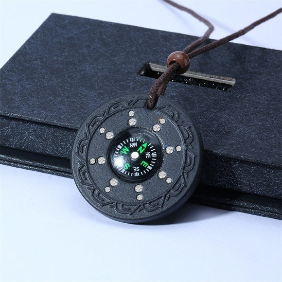 5G Protection Compass Negative Ion Quantum Science Scalar Energy Pendant Volcanic Lava & Neo Rare-Earth Magnet