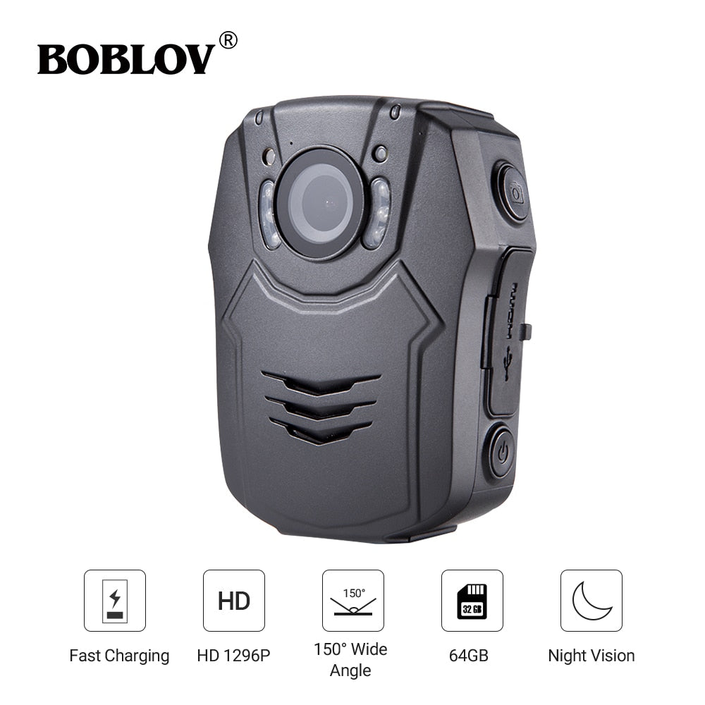 32GB Police Body Camera Recorder HD Infrared Night Vision Body Cam