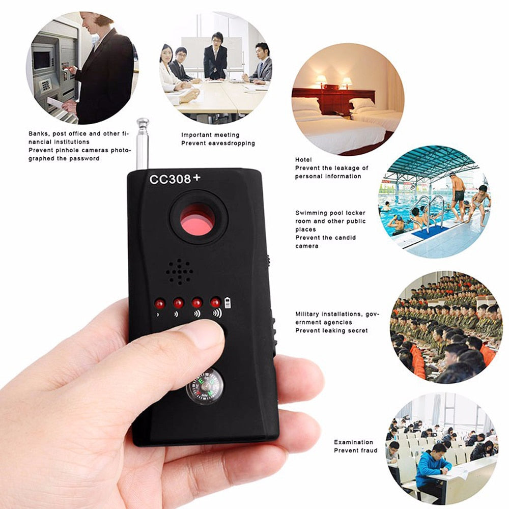Multi Wireless Radio Wave Signal RF, GSM & Hidden Camera Detector