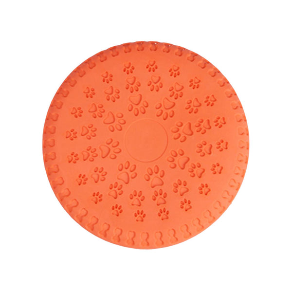 Soft Safety Flying Discs Toys Pet Dog Training Toys Rubber Flyer Catcher Toy