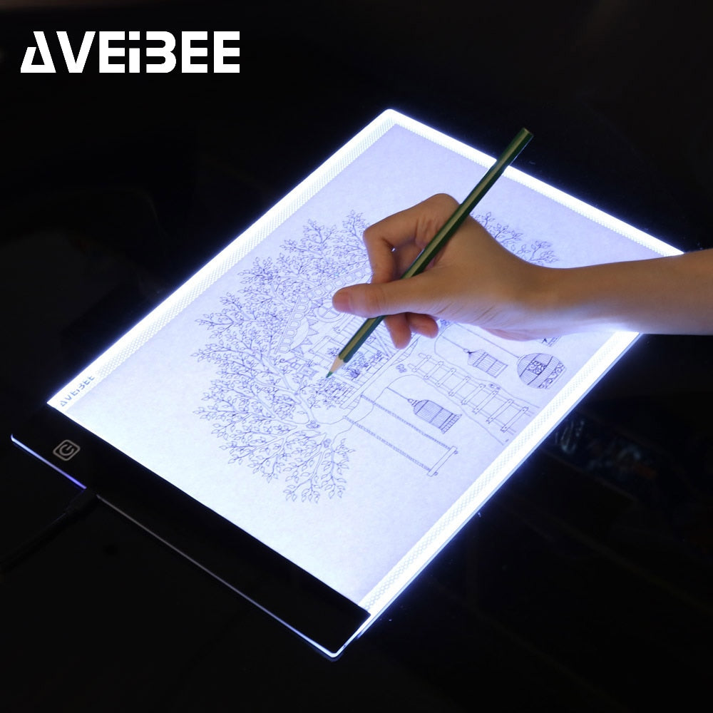 LED lighted A4 Tablet Trace Pad