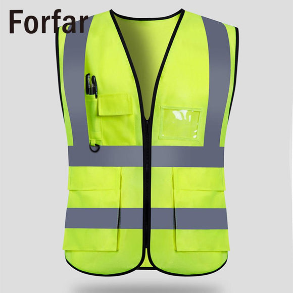 Yellow Elastic Cloth Outdoor Tool Reflective Safety Vest Practical