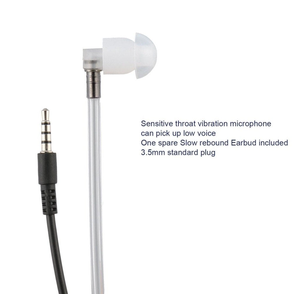 Anti-Radiation Earphone 3.5mm Air Acoustic Tube Earpiece Stereo Earphone with Microphone for Smart Mobile Phone