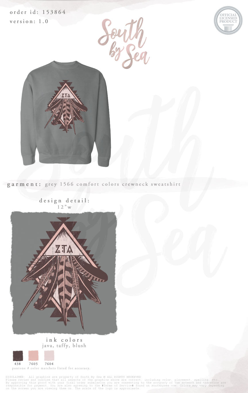 LAST CHANCE | 153864 | Zeta Tau Alpha Aztec Feather