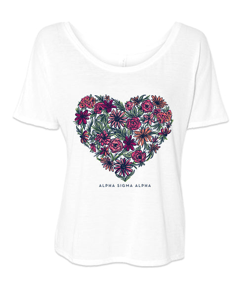 LAST CHANCE | 154297 | Alpha Sigma Alpha Flower Heart