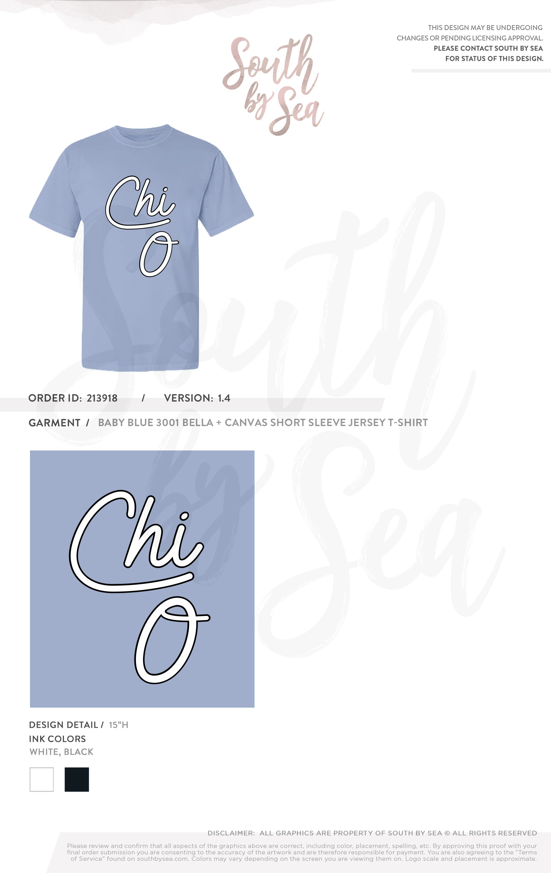 Order ID 213918 | 2019 Chi Omega Campaign