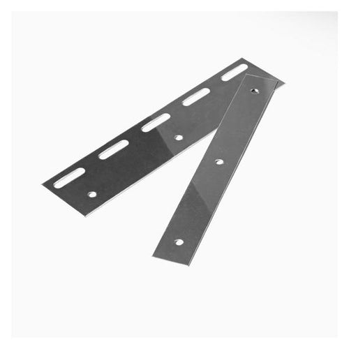 Stainless Steel PVC Hook Rail Hanging Plate | 200mm 2 pc
