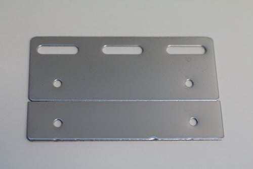 Stainless Steel PVC Hook Rail Hanging Plate | 100mm 2 pc