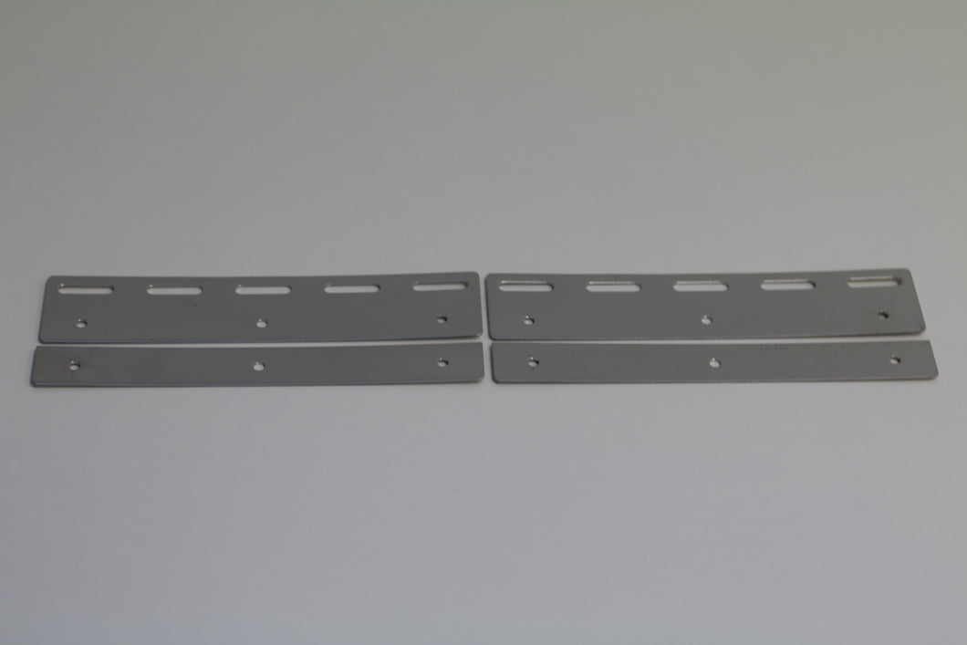 Stainless Steel PVC Hook Rail Hanging Plate | 400mm 4 pc