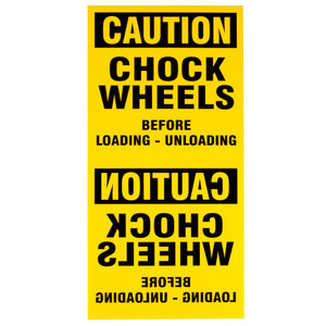 Wheel Chock Standard Sign