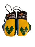 Caribbean & World Flags Car Hanging Boxing Gloves