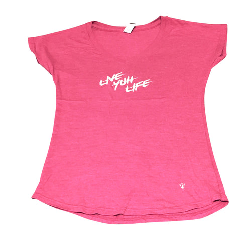 Ladies V-Neck (Live Yuh Life)