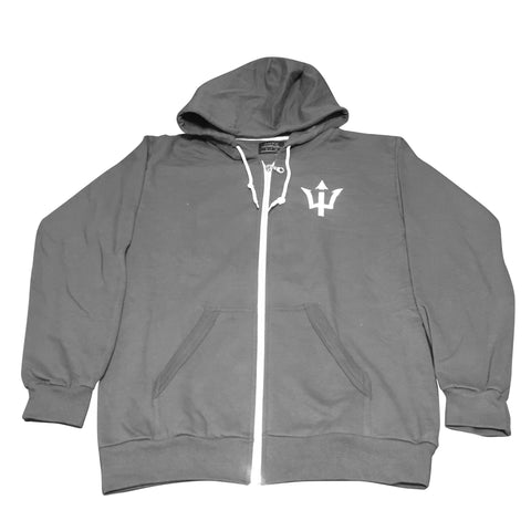 Trident Logo Full Zip Hooded Sweatshirt
