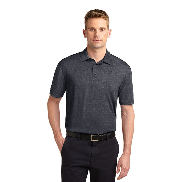 Heather Contender™ Polo With Protective Underarm Shields Sewn-In Style #ST660 - kleinerts.com