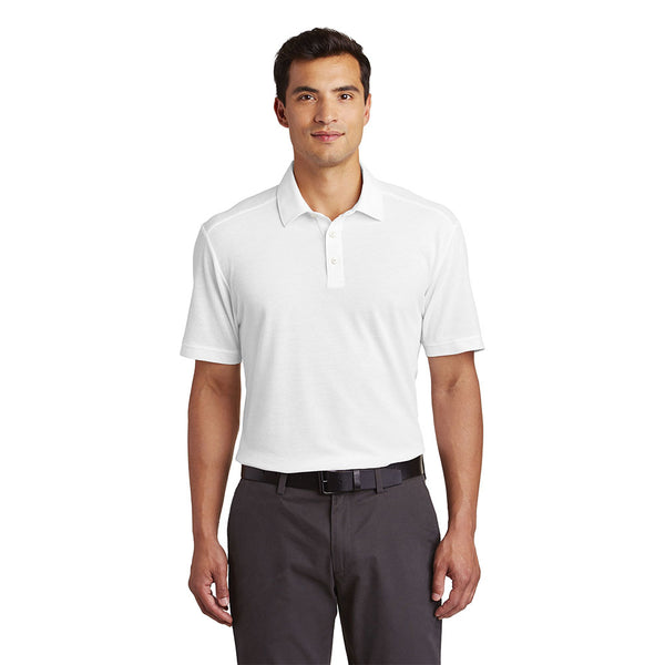 Textured Moisture Wicking Polo Shirt With Protective, Discreet Underarm Shields Sewn-In Style #K581 - kleinerts.com