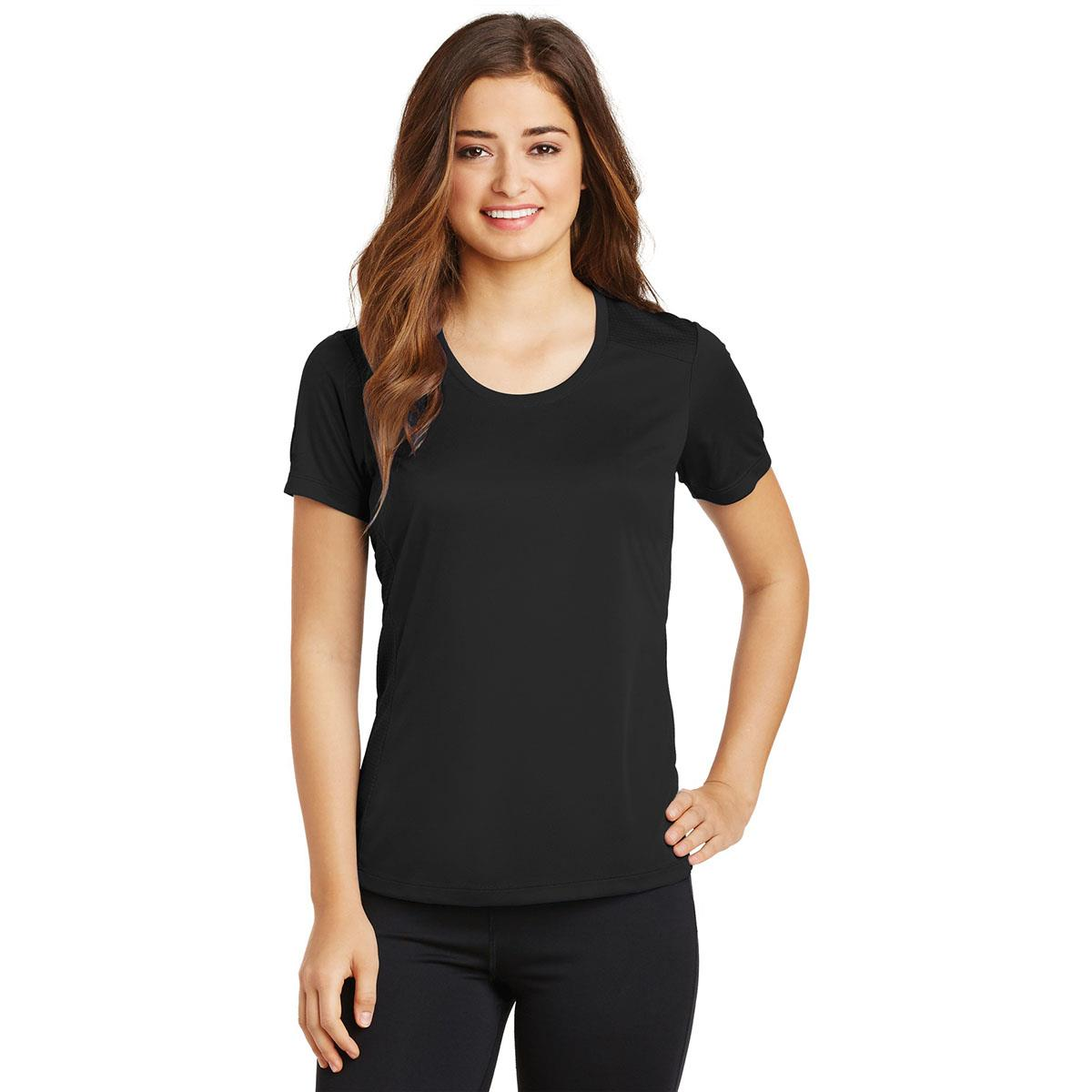 Ladies Elevate Scoop Neck Moisture Wicking Tee With Protective Underarm Shields Style #LST380
