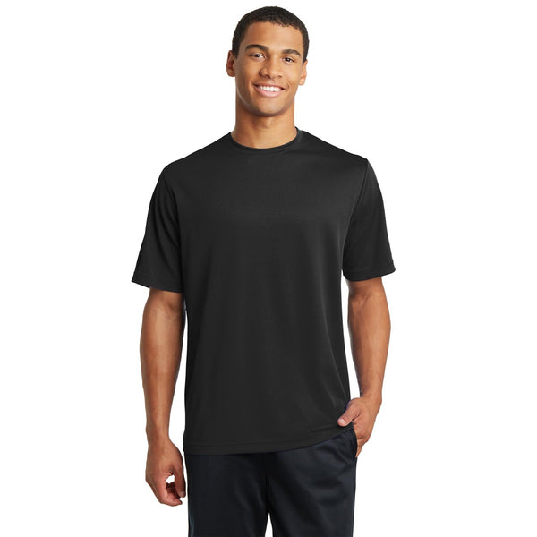 Men's Wicking Racer Mesh Tee Black