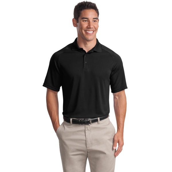 Short Sleeve Moisture Wicking Raglan Polo Shirt With Protective Underarm Shields Sewn-In Style #T475 - kleinerts.com
