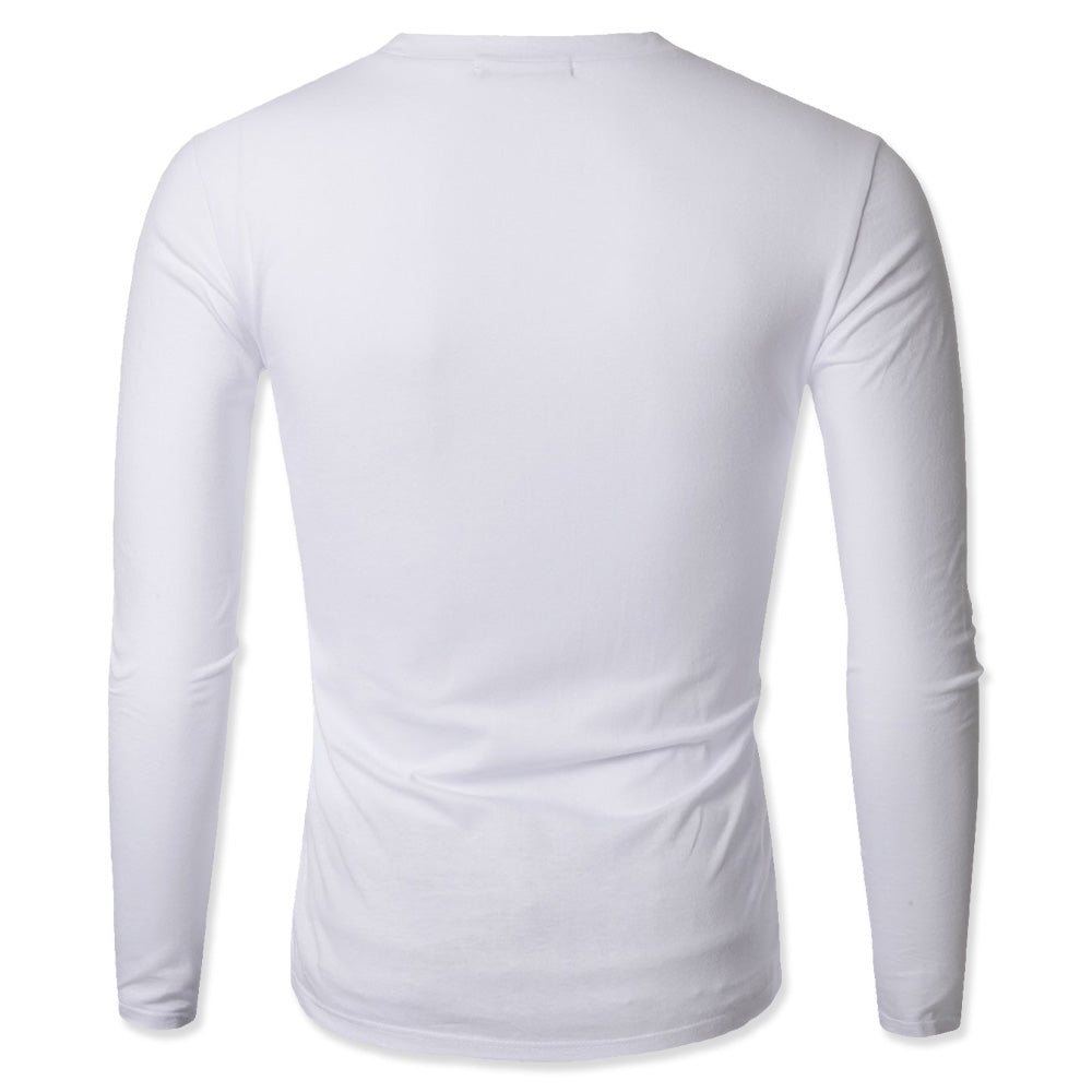 V-Neck Long Sleeve Sweat-Resistant Undershirt - 3 Pack Discounted - kleinerts.com