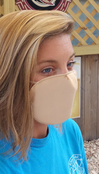 Washable Cotton Face Mask. Fluid-Resistant, Anti-Bacterial & Stain-Resistant to Covid-19.