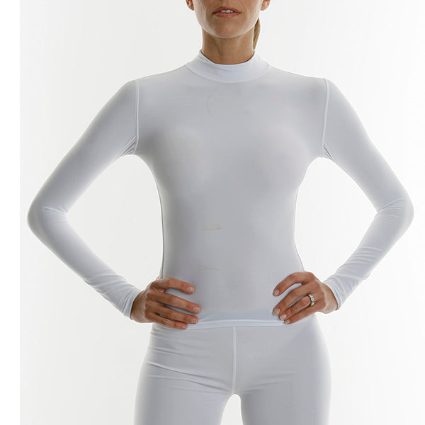 Womens Long Sleeve Tight Fit Compression Shirt With Fabrapel® Treatment Style #WC5050CT - kleinerts.com