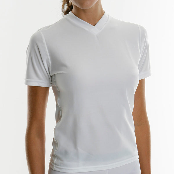 Womens Short Sleeve Regular Fit Shirts With  Sweat-Proof Fabrapel® Treatment Style #WC5061CL