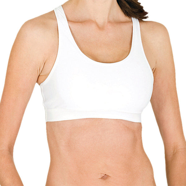 Racer Back Compression Sports Bra With Fabrapel® Treatment Style #WC6002 - kleinerts.com
