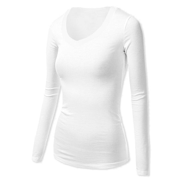 Women's Sweat-Resistant, Stain-Resistant & Odor-Resistant Long Sleeved V-Neck Style # FWL03L Lightweight Or #FW03L Midweight