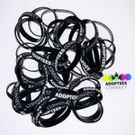50 Adoptees Connect Silicone Bracelets