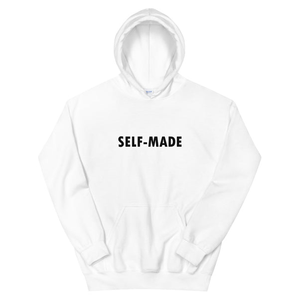 Self Made White Unisex Hoodie