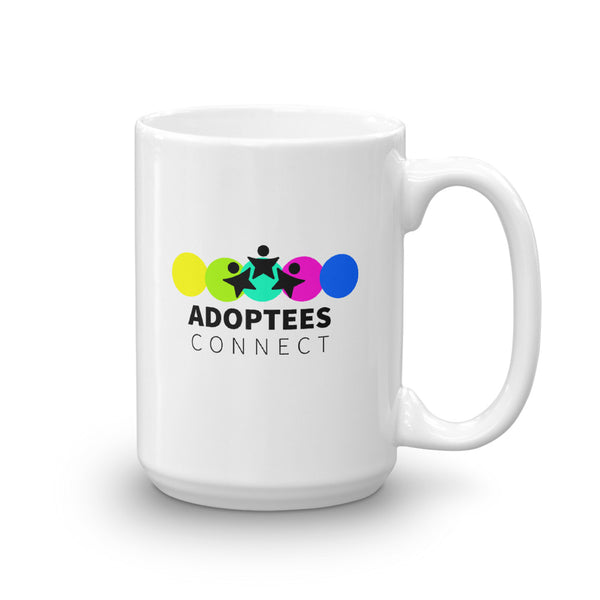 Adoptees Connect White Glossy Mug