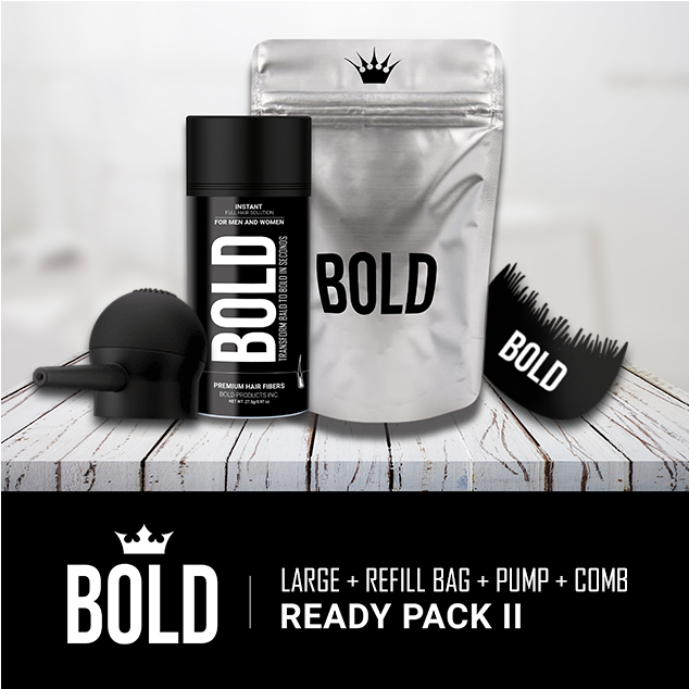 Ready Pack II - Large Bottle + Refill Bag + Applicator Pump + Hairline Comb (Save 27%)