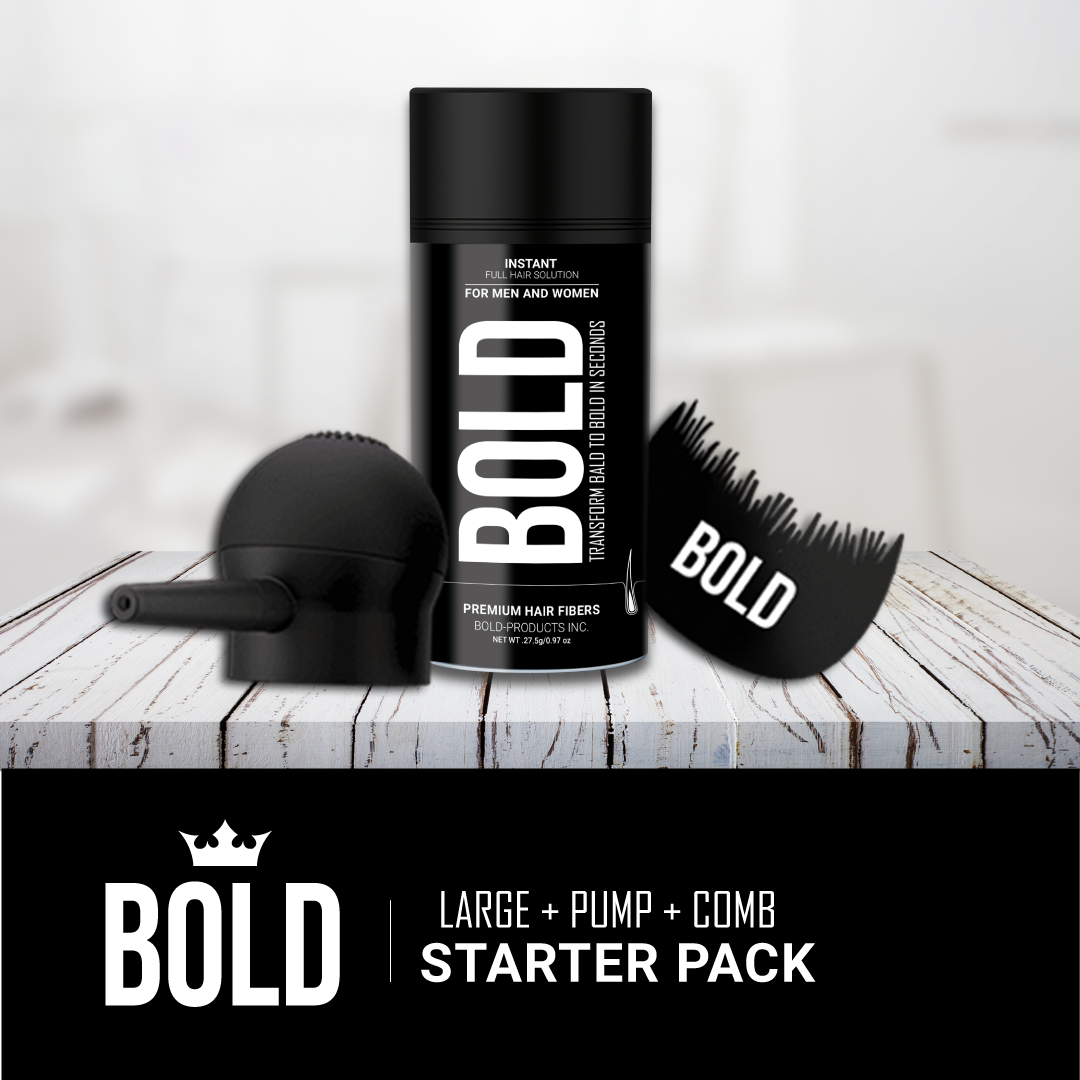 Starter Pack I - Large Bottle + Applicator Pump + Hairline Comb