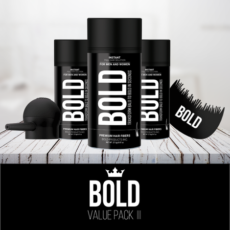 Bold Premium Hair Fibers- Value Pack I