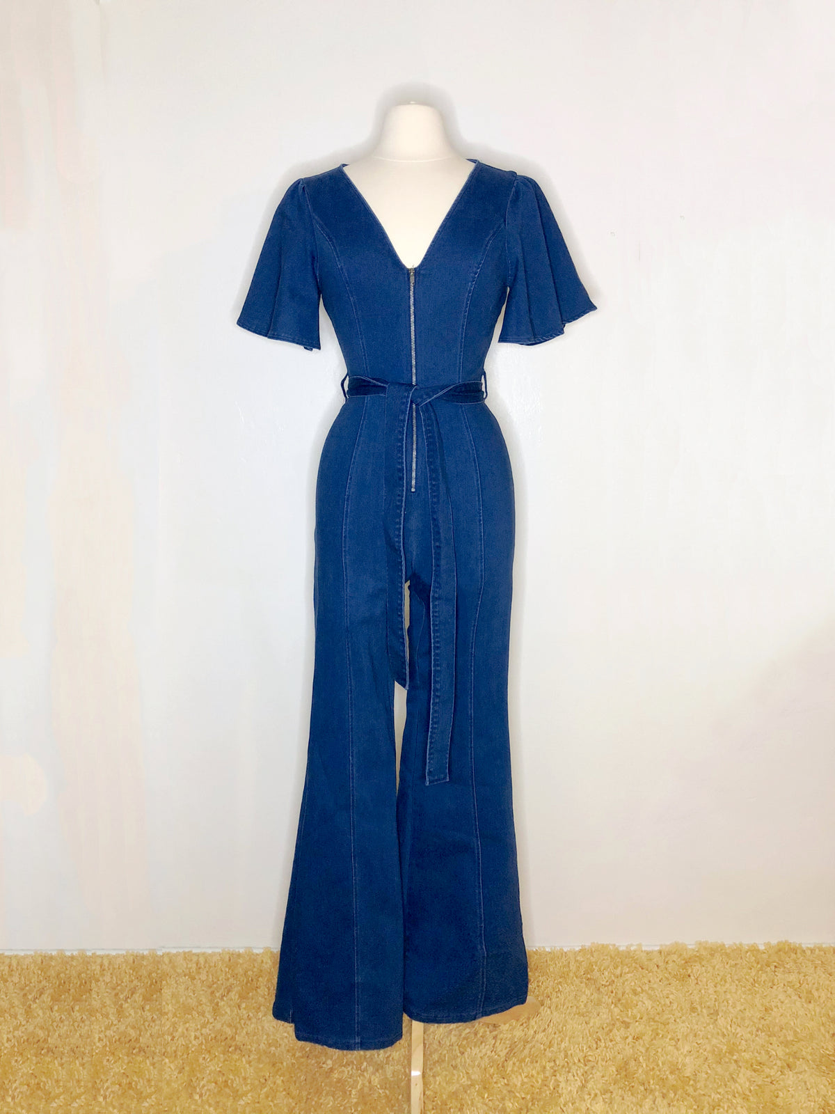 Zepplin Flared Leg Denim Jumpsuit