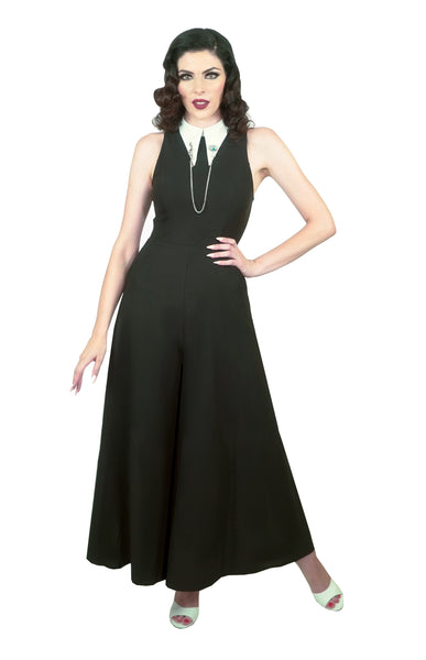 Headmistress Jumpsuit in Black (PreOrder)
