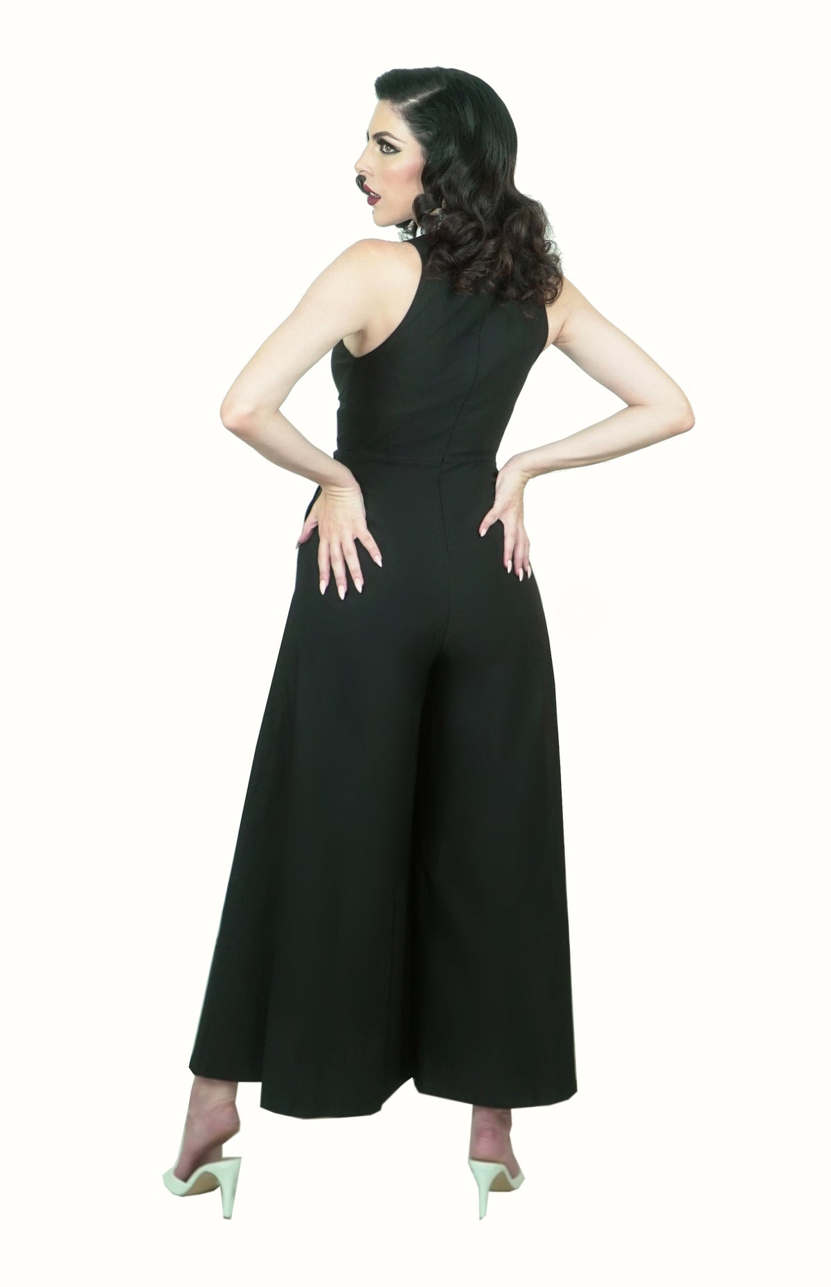 Headmistress Jumpsuit in Black