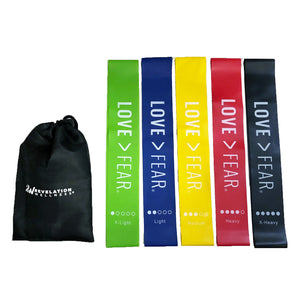 Love > Fear Resistance Band Set