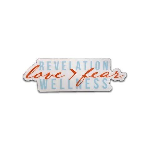 Love > Fear Clear Sticker