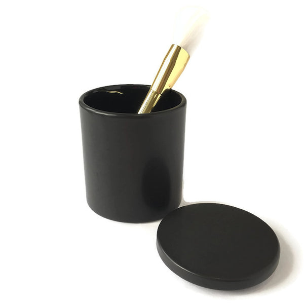 Accessories - Black Ceramic Container with lid