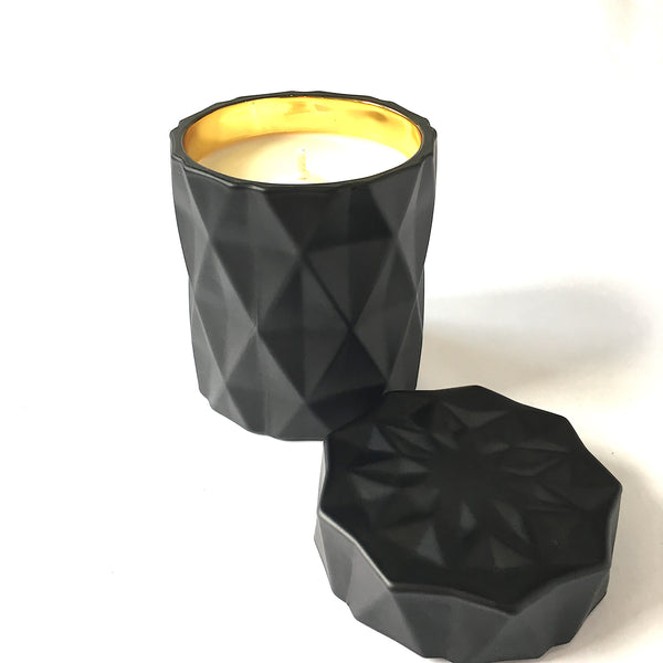 Candle - Luxe Black & Gold Diamond Soy Wax Candle
