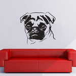 3D Pug Wall Sticker