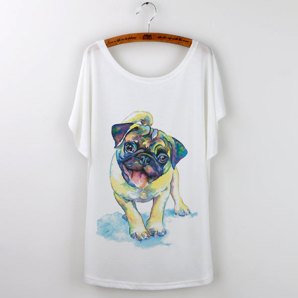 Colorful Pug T-Shirt