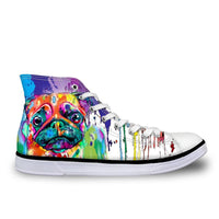 Colorful Pug High Top Flat