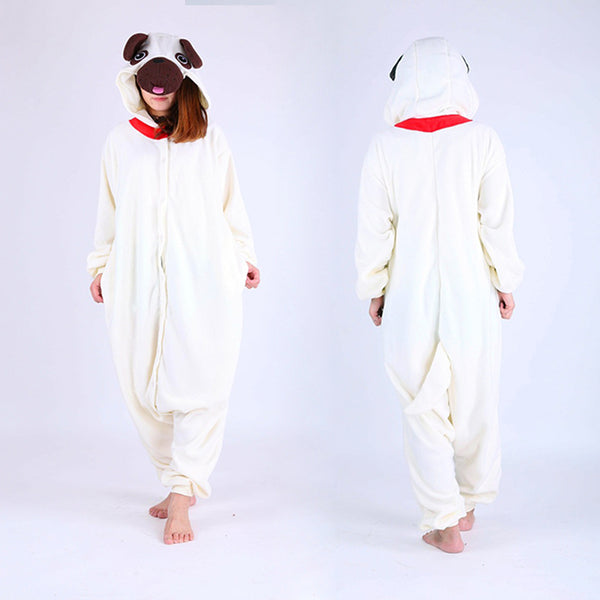 Pug Onesie Ladies Pyjamas