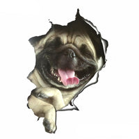 3D Pug Bumper Sticker