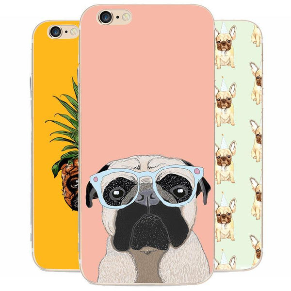 10 Types - Thin iPhone Pug Cases