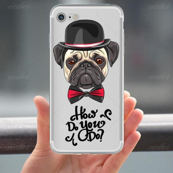 Soft Silicon Pug iPhone Cases